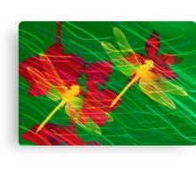 Orchids & Dragonflies. Canvas Print