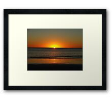 Cable Beach Sunset - Broome Western Australia Framed Print
