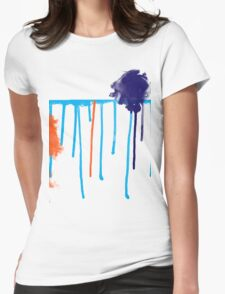 Water Colours Womens Fitted T-Shirt