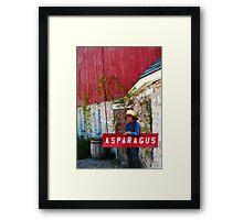 The Asparagus Boy Framed Print