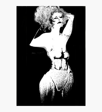 Under the Influence Girl in White Corset Photographic Print