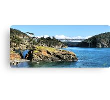 The Bridge and the Rock II Canvas Print