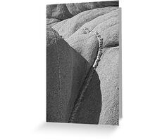 Joshua Tree Monzogranite Abstract 2 Greeting Card