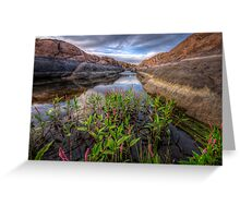 Bloom in the Rock Canal-Wide Greeting Card