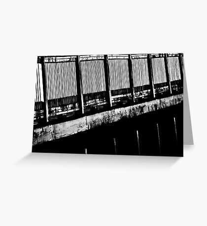 Abstract Black and White Greeting Card
