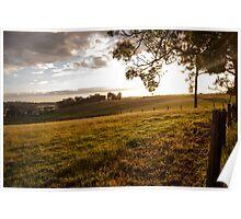 Sunset of Farm Poster