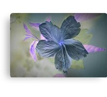 White Hibiscus (Invert) Canvas Print