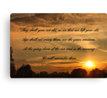The Ode Canvas Print