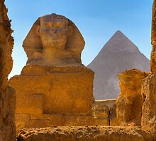 Framing the Sphinx, Eygpt by Clint Burkinshaw