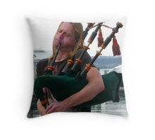 Punky Piper Throw Pillow
