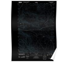 USGS Topo Map Oregon Virtue Flat 20110831 TM Inverted Poster