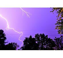 Random Lightning Photographic Print