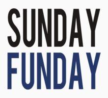Sunday Funday (blue) One Piece - Short Sleeve