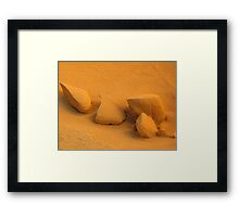 Sand Objects - Pinnacles, WA Framed Print