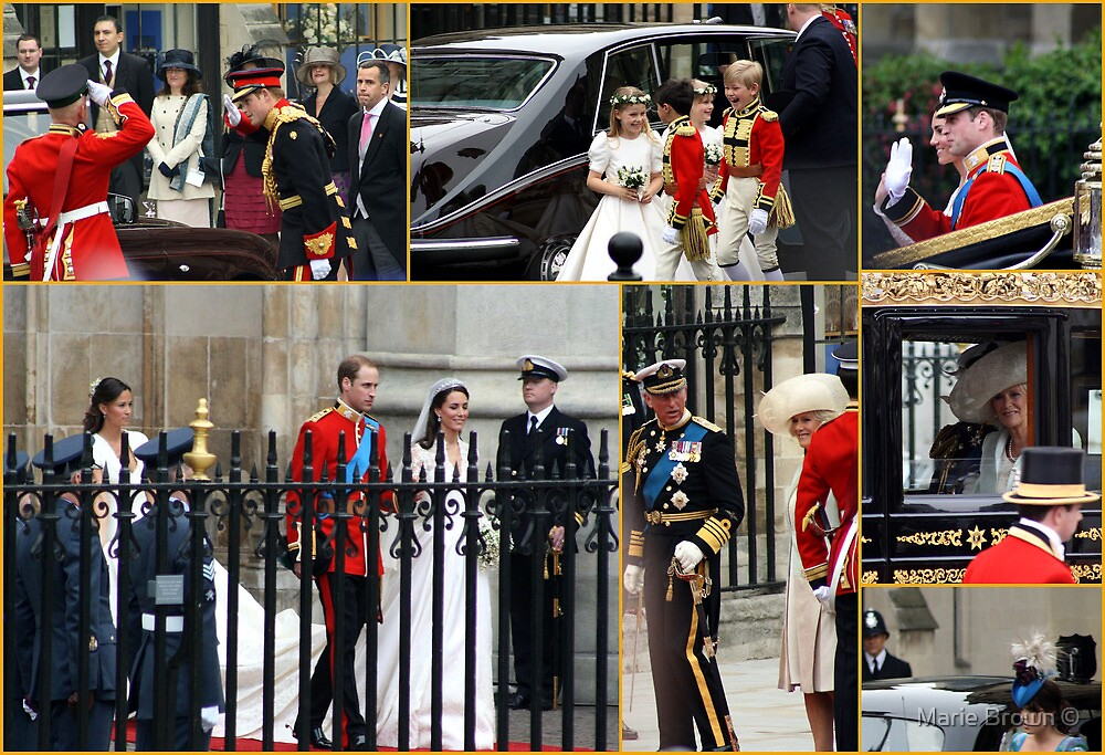 COLLAGE OF THE ROYAL WEDDING  by Marie Brown ©
