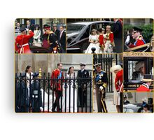 COLLAGE OF THE ROYAL WEDDING  Canvas Print