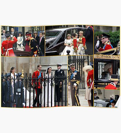 COLLAGE OF THE ROYAL WEDDING  Poster