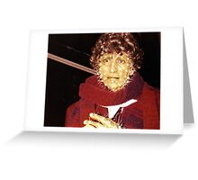Tom Baker (as Doctor Who) waxwork at Madame Tussauds  Greeting Card