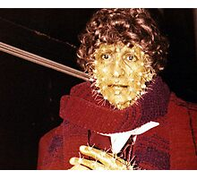 Tom Baker (as Doctor Who) waxwork at Madame Tussauds  Photographic Print