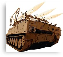 Akash Missile Tank Canvas Print