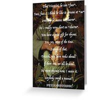 Princess Bride Rhymes Greeting Card