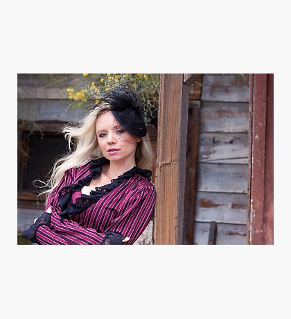 Saloon Woman Waits Photographic Print