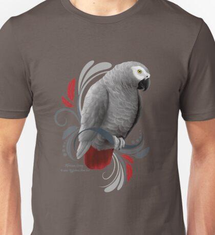 African Grey Parrot Unisex T-Shirt