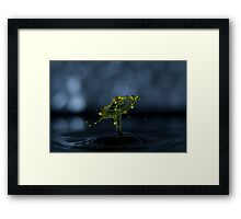 Yellow Ripples Framed Print