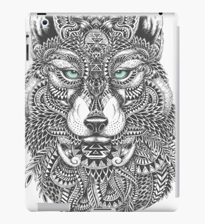 Very Intricate Wolf Illustration iPad Case/Skin