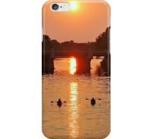Upstream At Sundown iPhone Case/Skin