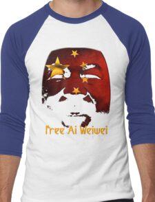 Free Ai Weiwei - NO MARKUP! Men's Baseball ¾ T-Shirt