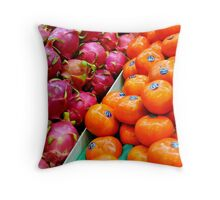Persimmons and Dragon Fruit Throw Pillow