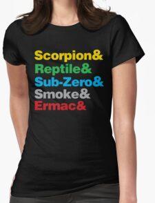 Mortal Kombat Beatles Parody shirt Womens Fitted T-Shirt