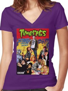 Timerats Women's Fitted V-Neck T-Shirt
