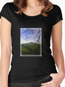 Brentor in the Distance Women's Fitted Scoop T-Shirt