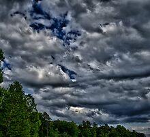 Clouds at Lake Crabtree by DBGuinn