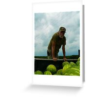 my name is cowboy and I sell watermelons  Greeting Card