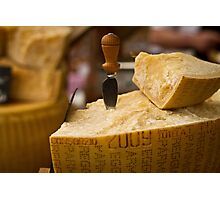A slice of parmesan cheese Photographic Print