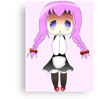 Chibi Anime Maid Canvas Print