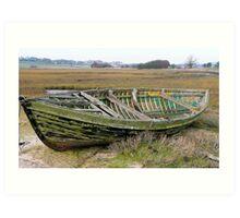 Wooden boat, plastic ribs! Art Print