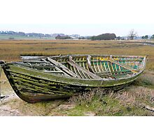 Wooden boat, plastic ribs! Photographic Print