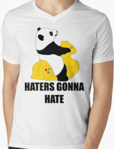 Haters Gonna Hate: Panda Mens V-Neck T-Shirt
