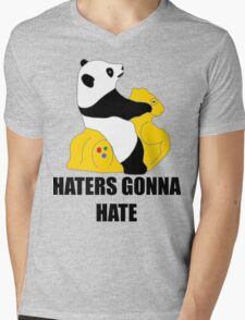 Haters Gonna Hate: Panda Mens V-Neck T-Shirt
