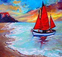 Freedom Sails by Helena Bebirian