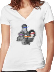 mutant painters Women's Fitted V-Neck T-Shirt