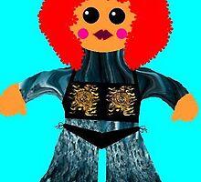 Little Miss Raynor Shine Rag Doll by Deborah Lazarus