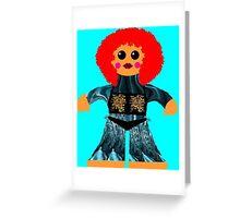 Little Miss Raynor Shine Rag Doll Greeting Card