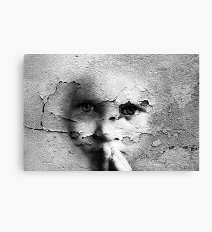 Talking To A Wall, Too Canvas Print