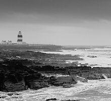 Hook Head Lighthouse on a stormy day, County Wexford, Ireland by Andrew Jones