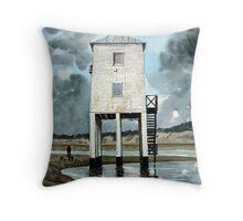 """The Thirty-Nine Steps"" - Beach Lighthouse, Burnham-on-Sea, Somerset Throw Pillow"